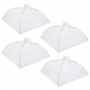 Honearn 4 pcs Collapsible Food Umbrella Cover 41cm Mesh Fly Wasp Net for Party BBQ