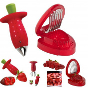 Strawberry Huller And Slicer Cutter Gadgets Kitchen Tool Set