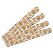 Double-Sided Nail File Emery Board Set 4 Pack - Anchor with Rope Nautical Sea Navy - Peach