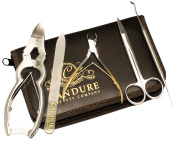 CANDURE® - Professional 5 Pieces Heavy Duty Stainless Steel Nail Nipper - Nail Clipper- Nail Cutter (CHIROPODY PODIATRY TOOLS)- Nail care - Personal Manicure & Pedicure Set - Toe Nails Scissors for thick Toe Nails - Nail Lifter Tool - Foot Dresser and ..