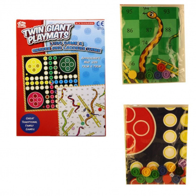 A to Z Twin Giant Playmats Ludo & Snakes & Ladders Game
