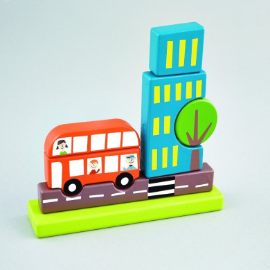Transport Wooden Magnetic Puzzle