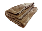 Luxury Faux Fur Throw 150x200cms Beige Mink Extra Large 2 Seater Sofa Double Bed Blanket