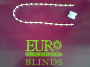 White Plastic Roller Blind Chain 8mm Gap (3 Metres) by ROLLER BLIND SPARES