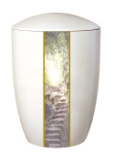Urns UK Farley Stairway Heaven Adult Cremation Urn for Ashes, Ceramic, Ivory
