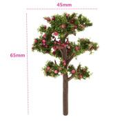 SecretRain Miniature Resin Garden Fairy Ornament Flower Pot Plant Pot Home Decor Red Apple Tree