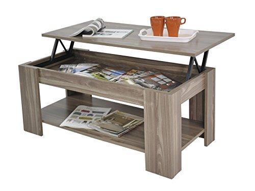 Coffee Table Desk.Home Source Caspian Lift Top Coffee Table With Storage Shelf Espresso Walnut Oak White
