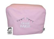CozyCoverUp® Food Mixer Dust Cover for Kenwood Chef Classic Baby Pink Embroidered GREAT BAKER!