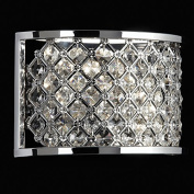 Endon 2 LIGHT WALL BRACKET IN CHROME WITH CRYSTAL BEADS