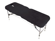 Black Massage Table Couch Cover with Face Hole