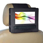 Zhiyi Car Headrest Mount Holder for 18cm Swivel & Flip Style Portable DVD Player