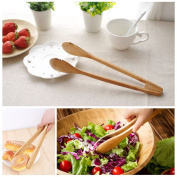 HENGSONG Bamboo Toast Tongs Cooking Tongs