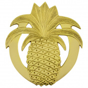 Solid Brass Pineapple Trivet Hot Kitchen Stove Pot or Pan Holder