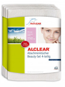 ALCLEAR Removal Pads Skin Friendly Ultra Microfibre to Prevent Skin Irritation and Allergies Dermatologically Pure Set of 4