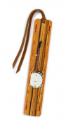 Musical Instrument - Banjo in Colour Wooden Bookmark with Tassel