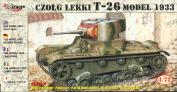 Mirage Hobby, Light Tank T-26, 1:72 scale Plastic Model