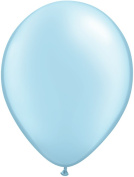 Pioneer Balloon Company 100 Count Latex Balloon, 28cm , Pearl Light Blue
