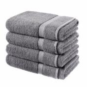 4 luxury egyptian cotton bath sheets - grey