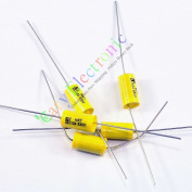 Cary 10pcs Yellow Long Lead Axial Polyester Film Capacitor 0.1uf 630v for Tube Amps