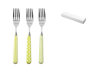 HOME Set of 6 table forks Provence blue decoration Kitchen tools