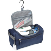 H & S Hanging Travel Toiletry Bag Overnight Wash Gym Shaving Bag for Men and Women Ladies Blue