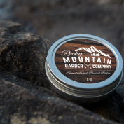 Beard Balm – Sandalwood Blend - Rocky Mountain Barber – with Nutrient Rich Bees Wax, Jojoba, Shea Butter, Coconut Oil – Contains Real Sandalwood Essential Oil