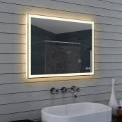 Design Bathroom Mirror with Dimmer Warm And Cool White Touch Switch 80 x 60 cm