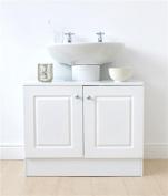 White 2 Door Undersink Storage Unit, Home, Bathroom, Storage Solutions, New