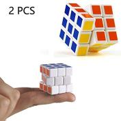 LVEDU Brain Teaser 2PCS 3 CM Mini Rubik's Cube 3x3x3 Speed Cube Puzzles Educational Toys