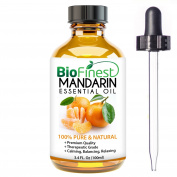 BioFinest Mandarin Oil - 100% Pure Mandarin Essential Oil - Brighten Skin, Reduce Acne, Scars, Age Spots - Premium Quality - Therapeutic Grade - Best For Aromatherapy - .  and Dropper