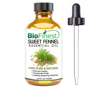 BioFinest Fennel Oil - 100% Pure Fennel Essential Oil - Natural Laxative For Detox - Premium Quality - Therapeutic Grade - Best For Aromatherapy - .  and Dropper