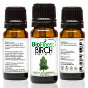 BioFinest Birch Oil - 100% Pure Birch Essential Oil - Fight Arthritis, Muscle & Joint Paint - Premium Quality - Therapeutic Grade - Best For Aromatherapy - . 10ml)