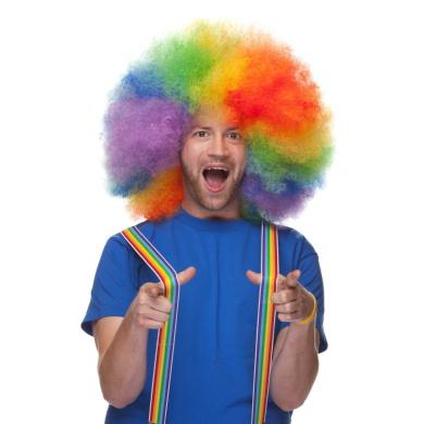 Sepia Costume Big Jumbo Afro Synthetic Wig - Rainbow