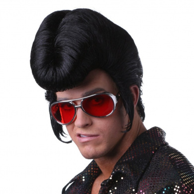Sepia Costume New Elvis Style Synthetic Wig - Black