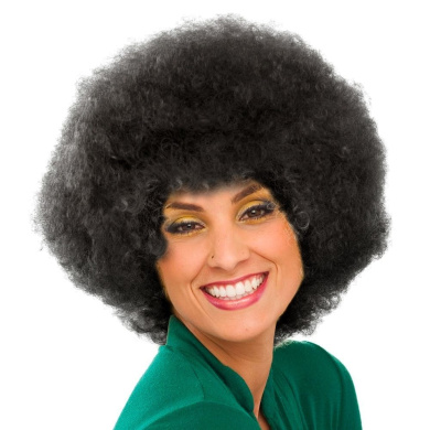 Sepia Costume New Colour Afro Synthetic Wig - 1B