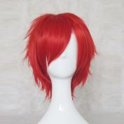 Re:Zero kara Hajimeru Isekai Seikatsu Reinhard Red 35cm Straight Cosplay Wig Free Wig Cap + Free Wig Cap