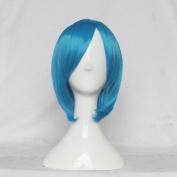 Kiniro no Corda Primo Passo Tsukimori Len Blue 35cm Straight Cosplay Wig Free Wig Cap + Free Wig Cap