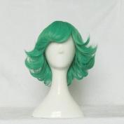 One Punch Man Tatsumaki Green 35cm Curly Cosplay Wig Free Wig Cap + Free Wig Cap