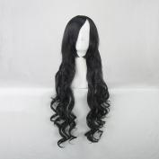 Card Captor Sakura Daidouji Tomoyo Black Curly 80cm Cosplay Wig