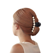 Lisli 1pcs Pearl Women Kid Girl Hair Clip Pin Claw Barrettes Accessories (Big