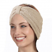 KYS Wide Knitted Bow Headband