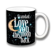Grandad Love You to the Moon & Back Ceramic Coffee Mug Christmas Gift Stocking Filler