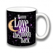 Nanny Love You to the Moon & Back Ceramic Coffee Mug Christmas Gift Stocking Filler