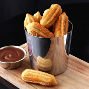 Stainless Steel Chip Cup 8.5 x 8.5cm - Pack of 12 - Mini Tapas Serving Bucket, Chip Cup