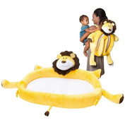 On The Go Toddler Lounger by LulyZoo - Plush Lion - Folds Into Backpack