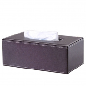 KINGFOM™ Rectangular PU Leather Tissue Holder , Suitable for Hotel & Home!