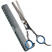 Yiruncai 17cm Pofessional 100% Stainless Steel Barber Handmade Hair-cutting Scissors/Shears With a Comb