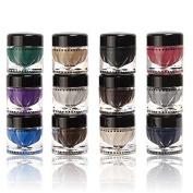 Eye Shadow Gel Mineral Texture Eyeshadow Cream Shimmer Metallic Glow Palette 12 Colours Shadows