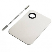 AEXGE™ Makeup Palette Nail Eye Shadow Mixing Stainless Steel Cosmetic Palette with Spatula Tool