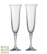 Royal Scot Crystal Set of 2 Classic Crystal Champagne Flutes
